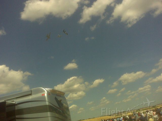 — — - Hertitage Flight passed over the crowd at Andrews Air Force Base during the Joint Services Open House 2011.