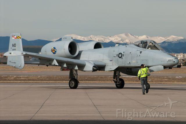 Fairchild-Republic Thunderbolt 2 (78-0693) - A-10 over night visit.