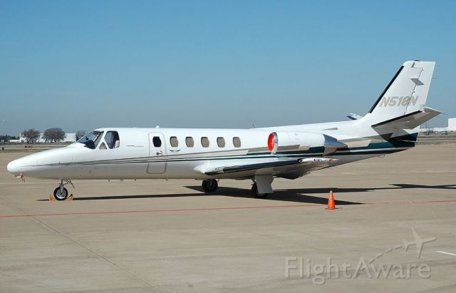 Cessna Citation II (N518N) - 1987 CESSNA 550<br />Fixed wing multi engine <br />(8 seats / 2 engines)