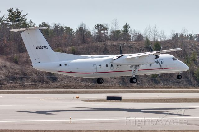 de Havilland Dash 8-300 (N599XQ) - Arriving at KMHT from KBGR. Operator not known to the photographer (CIA?).