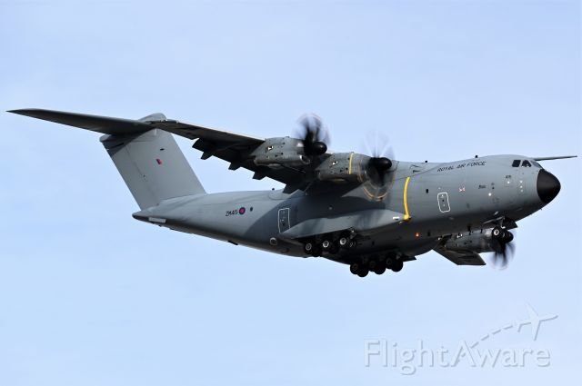 AIRBUS A-400M Atlas (MBB415) - Royal Air Force Airbus A400M-180 arriving at YYC on Feb 28.