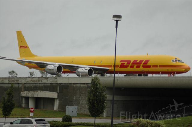 N804DH — - taxing on November to DHL ramp