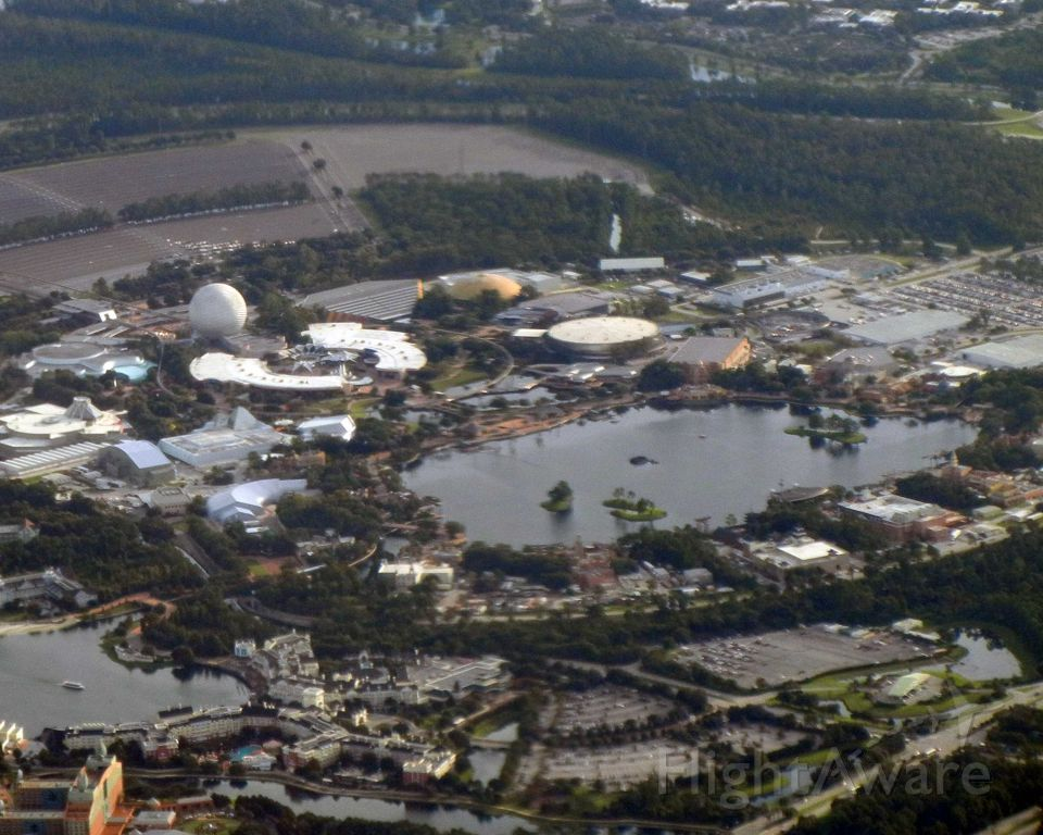 — — - Epcot from the air.