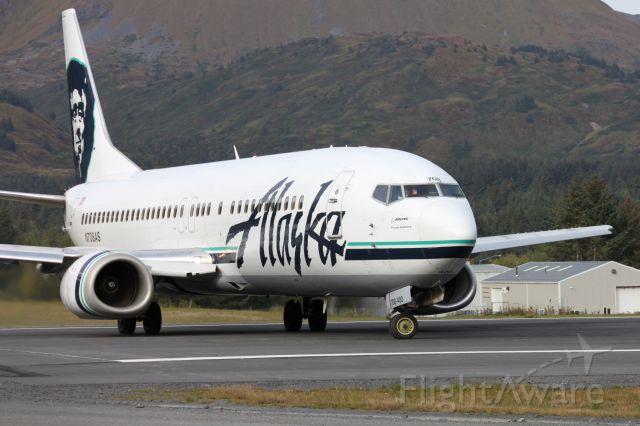 BOEING 737-400 (N708AS) - Gotta love those Alaska pilots!