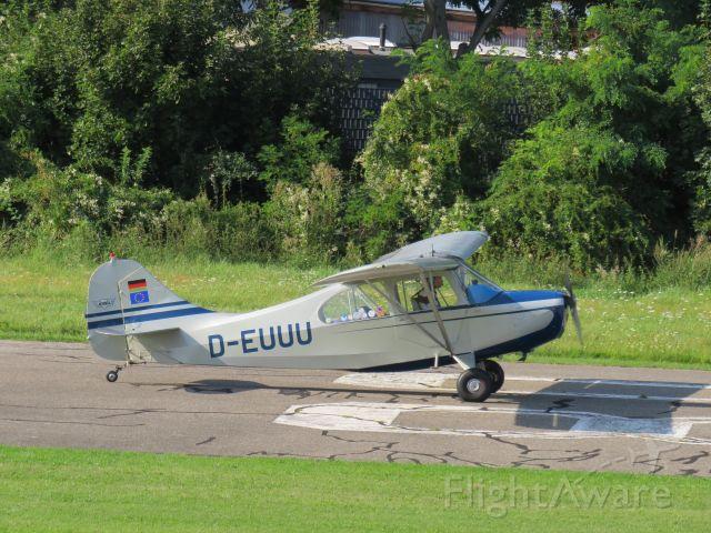 D-EUUU — - Aeronca 7EC Traveler conv.br /EDRF Am Abflugpunkt 08