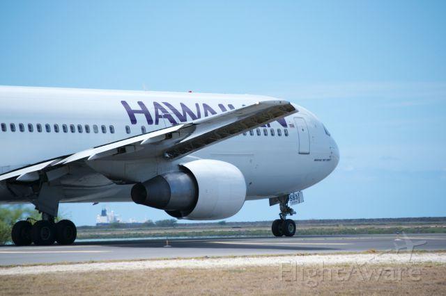 BOEING 767-300 — - Hawaiian 767-300 heading for reef runway at PHNL.