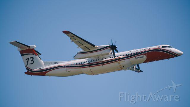 de Havilland Dash 8-400 (F-ZBMC) - T/O FMEE / De Havilland Canada DHC-8-400Q MR