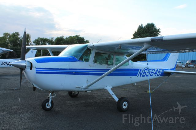 Cessna Skyhawk (N65645) - Parked at dusk on Labor Day.