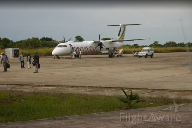 de Havilland Dash 8-400 (ET-ASA) - Post arrival for the weekend in Gambella