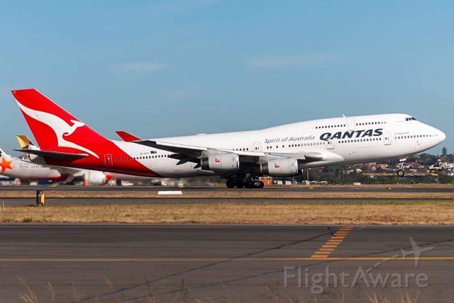 Boeing 747-400 (VH-OJT) - VH-OJT QF11 SYD-LAX