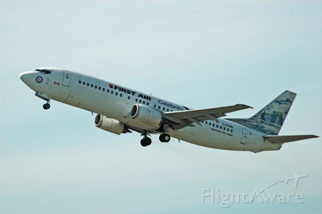 BOEING 737-400 (C-FFNM) - Boeing 737-436 (c/n: 25839) taking off from CYPQ (April 27, 2017)