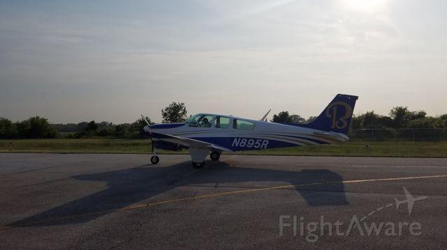 Beechcraft Bonanza (33) (N895R) - Ready to take off RWY 36