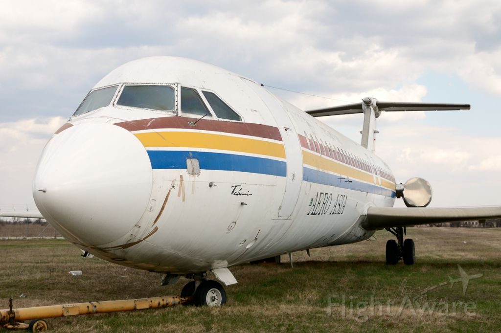 """British Aerospace BAC-111 One-Eleven (AP-BFC) - A piece of history! This is the first of nine Rombac 1-11's, the first and the only jet airliner built in Romania at Romaero Bucharest factories. Ex-registration: YR-BRA. Pictured during """"Otopeni Visit Spotting Tour"""" 2012."""