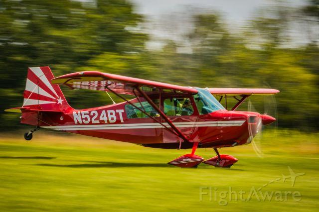 CHAMPION Sky-Trac (N524BT) - Panning shot of American Champion 7GCAA, N524BT landing at Van Sant airport.br / 1/50 sec. f/20 112mm ISO 125
