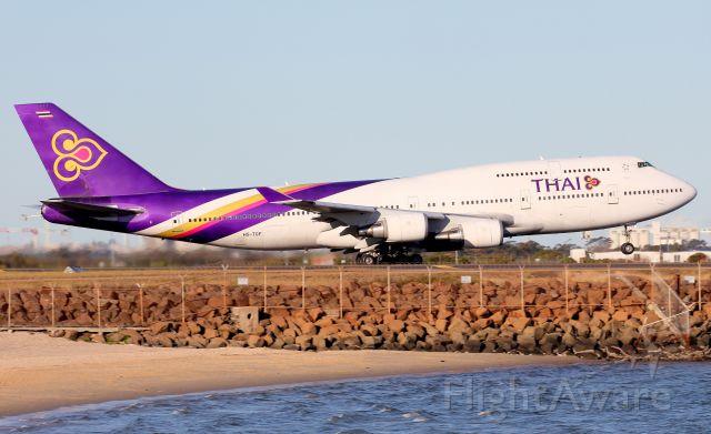 Boeing 747-400 (HS-TGF) - Lifting Off From Rwy 16R