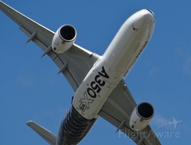 Airbus A350-900 (F-WWCF) - An Airbus A350 passing overhead at Oshkosh AirVenture 2015!