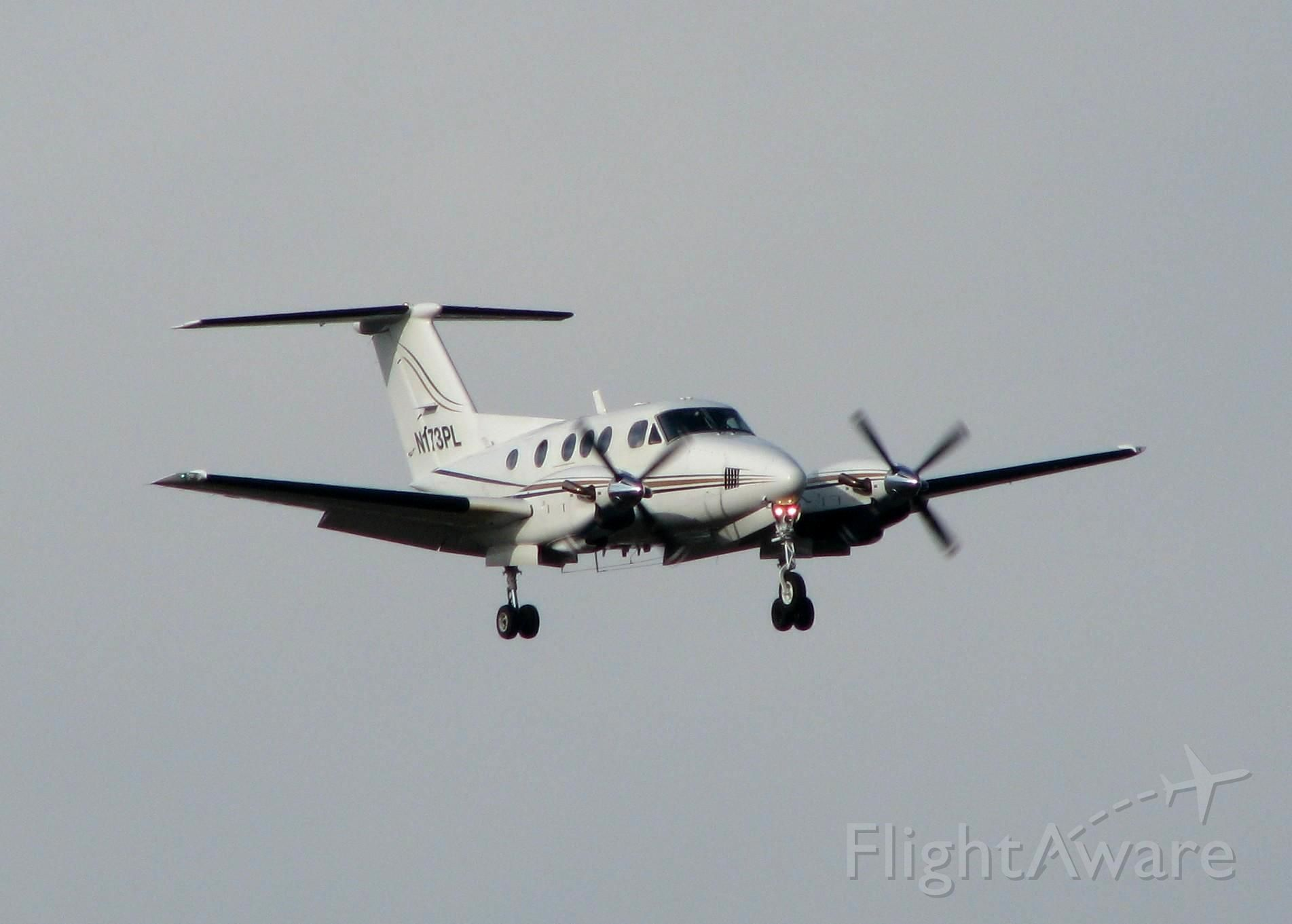 Beechcraft King Air F90 (N173PL) - Landing at Shreveport