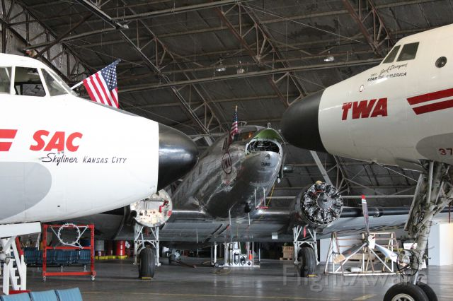 — — - Martin 404, DC3, and Connie at the Airline History Museum at KC Wheeler field