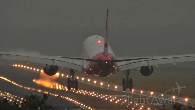 Airbus A330-200 — - Touchdown at Berlin Tegel Airport