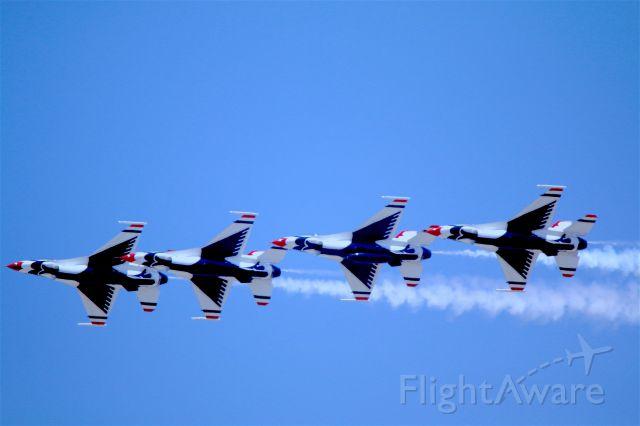 — — - Thunderbirds over MARCH ARB- Riverside- California