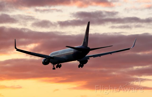 BOEING 767-300 (N587HA) - Hawaiian Airlines 767 on short final for 28L at Portland International Airport