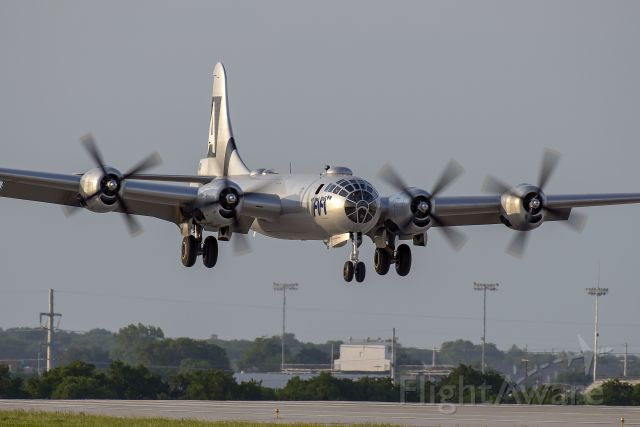 Boeing B-29 Superfortress (N529B) - The legendary B-29 Superfortress of the Commemorative Air Force, FiFi, is seen here being put through it's paces at Fort Worth's Alliance Airport in order to get the crew recurrent.