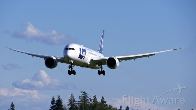 Boeing 787-9 Dreamliner (SP-LSE) - BOE749 on final to Rwy 34L to complete an EWA flight on 4.28.19. (ln 843 / cn 62173).
