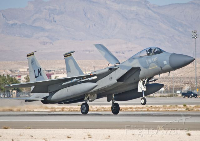 McDonnell Douglas F-15 Eagle (AFR84015) - F-15C 84-015 from the 493rd Ftr Sqdn at Red Flag 12-4.