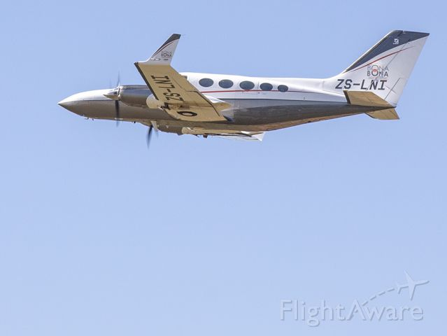 Cessna Chancellor (ZS-LNI) - Departure at Rand, South Africa. 16 NOV 2019.