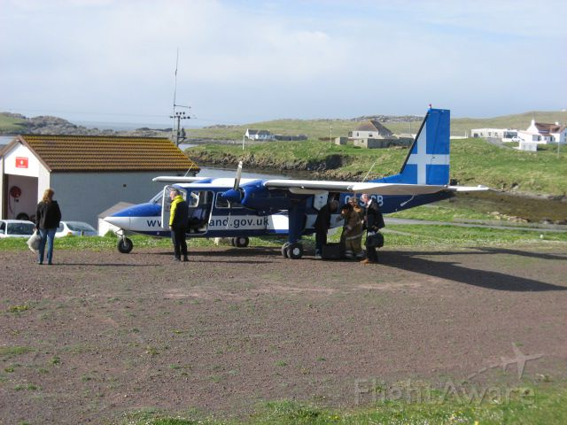 G-SICB — - Offloading the doctor and nurse for a weekly clinic at Out Skerries Shetland UK