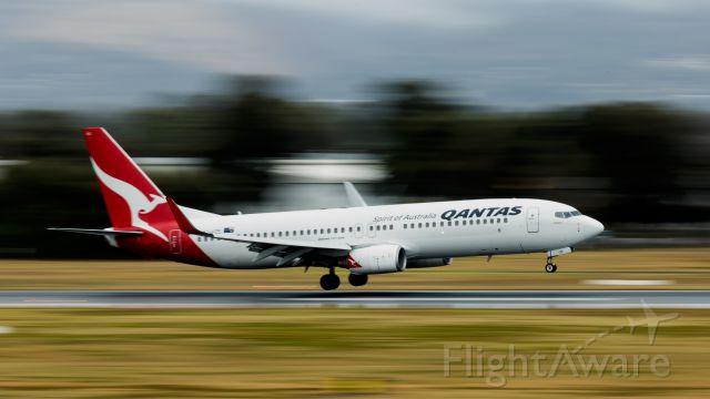 VH-VZE — - QANTAS 737 arrives at Adelaide