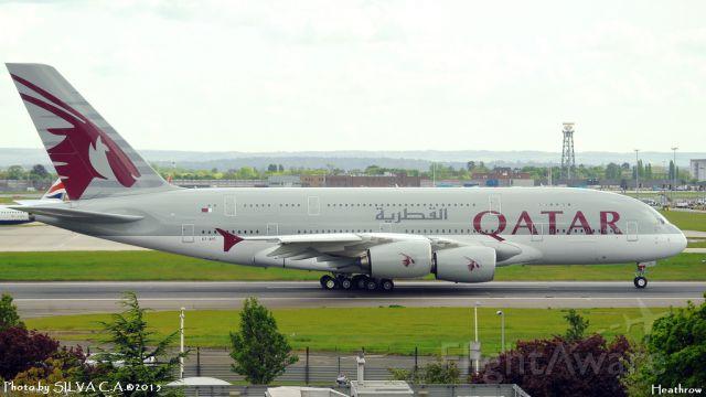 Airbus A380-800 (A7-APC) - A380 taking off