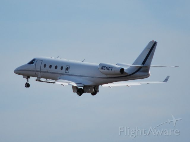 IAI Gulfstream G150 (N511CT) - WYOMING ASSOCIATES INC departing runway 2 at KJQF - 11/14/12