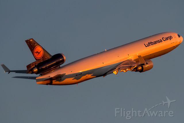 Boeing MD-11 (D-ALCM) - deep red evening sun
