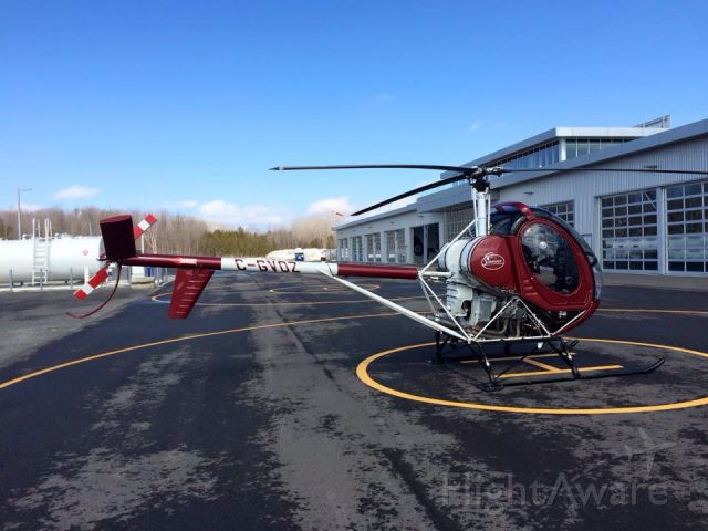 Cessna 206 Stationair (C-GVOZ) - C-GVOZ Hughes Schweizer 269-C Mirabel Hélico QC. CSD4