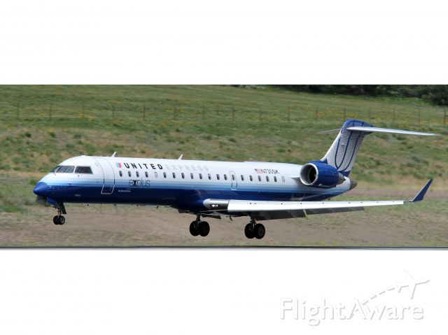 Canadair Regional Jet CRJ-200 (N730SK) - United Airlines RJ landing.
