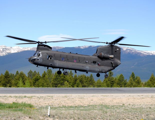 — — - Surprise visit from two CH-47 Chinook helicopters to Leadville.