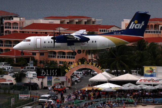 de Havilland Dash 8-300 (V2-LGI) - From the Sonesta Hotel