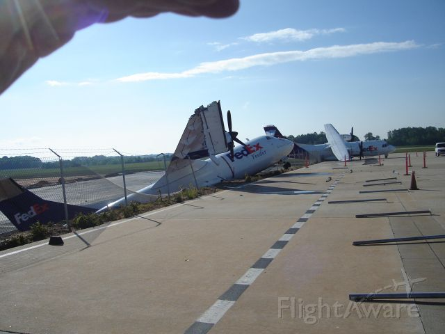 N905FX — - Aircraft blown off ramp into construction area by tornado