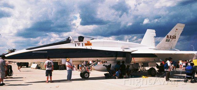McDonnell Douglas FA-18 Hornet (N850NA) - NASA F/A-18A, N850NA, at Barksdale AFB Airshow in 2005.