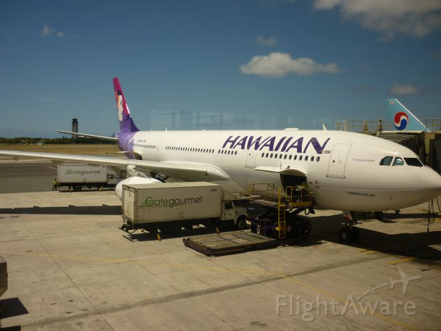 Airbus A330-200 (N385HA) - My Flight back  to  Australia from  Hawaii  A330-200