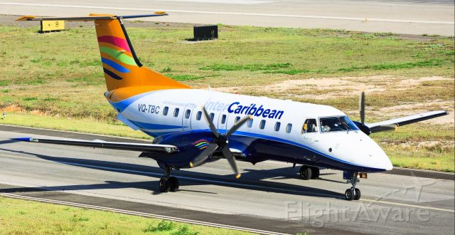 Embraer EMB-120 Brasilia (VQ-TBC) - InterCaribbean Express airways taxing for take off at TNCM St Maarten.