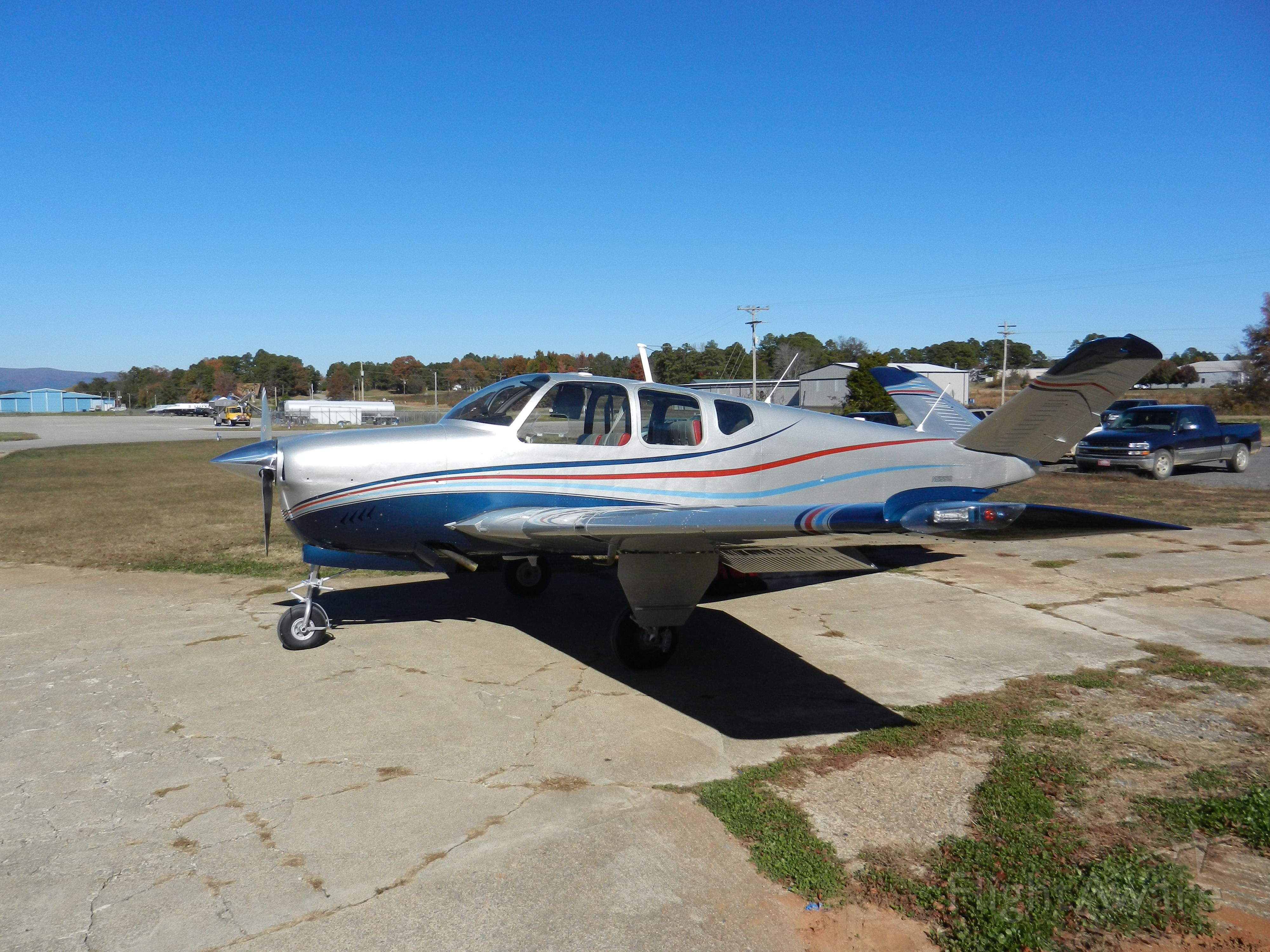 Beechcraft 35 Bonanza (N655Q) - New Paint Job at Crider Aircraft Painting KMEZ