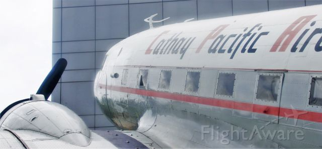 Douglas DC-3 (VR-HOA) - Cathay Pacific's first aircraft, a DC-3 which is on static display at Cathay Pacific's headquarters now.