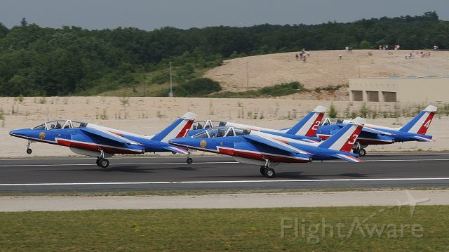 — — - FRENCH AIR FORCE DISPLAY IN BRIVE SOUILLAC AIRPORT JULY 2010