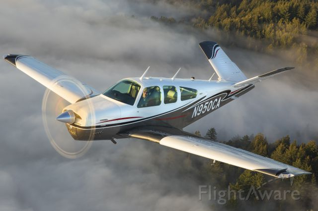 Beechcraft 35 Bonanza (N950CA) - Evening photoshoot along the California Coastline south of Half Moon Bay, CA
