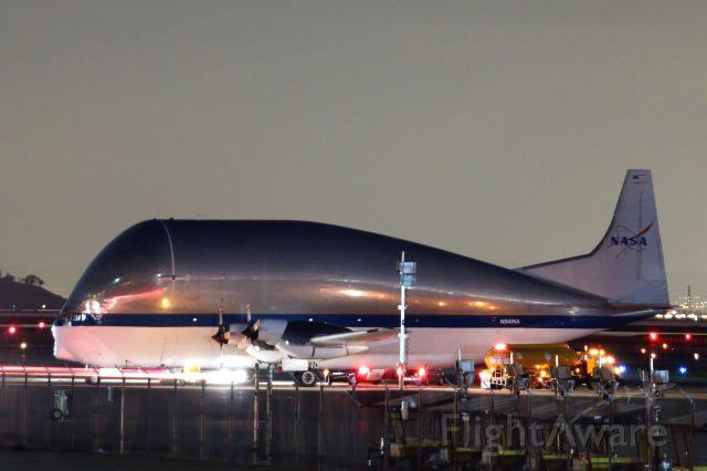 Aero Spacelines Super Guppy (N941NA) - On the tarmac at Moffett Federal Airfield Jan. 24, 2016.