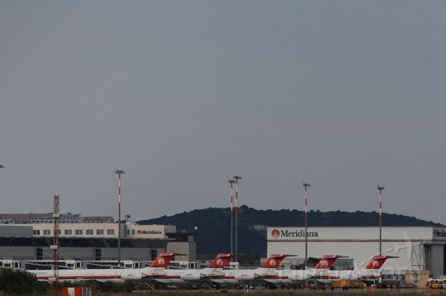 McDonnell Douglas MD-80 — - Wow..five MD80 at the same time at Olbia!