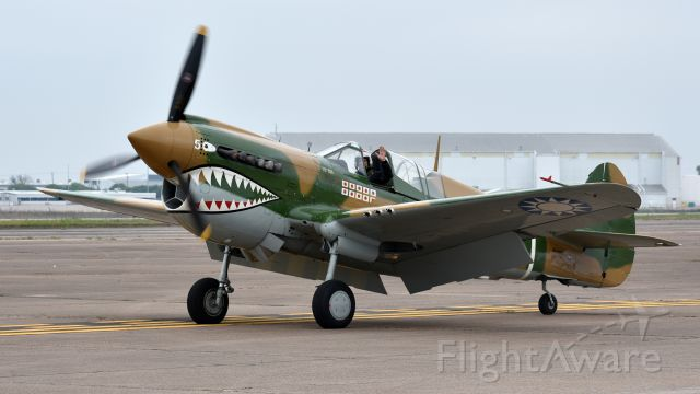 N40PN — - P-40N Warhawk 44-7369 taxiing in after a Heritage Flight with an A-10 at the Heart of Texas Airshow in Waco.