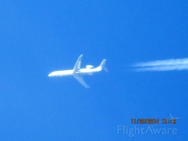Canadair Regional Jet CRJ-700 (N157GJ) - GoJet Airlines flight 3659 from ATL to DEN over Southeastern Kansas at 36,000 feet.